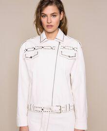 Perfecto clouté Blanc Antique White Femme 201TT2022-05