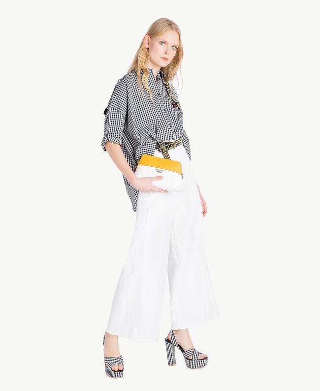 Camicia Vichy Bicolor Vichy Bianco Ottico / Nero Donna JS82EP-05