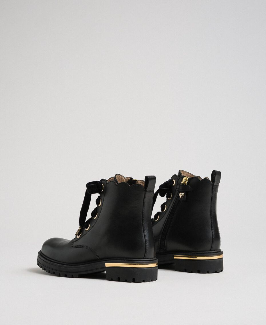 Leather ankle boots Black Child 192GCJ048-03