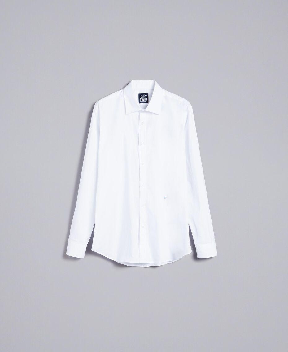 Camicia in cotone stretch Madreperla Uomo UA82EN-0S