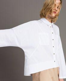Chemise en popeline avec poches Blanc Femme 191LL23LL-01