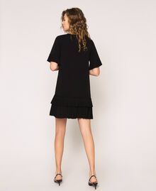 Georgette dress with pleats Black Woman 201TP2026-03