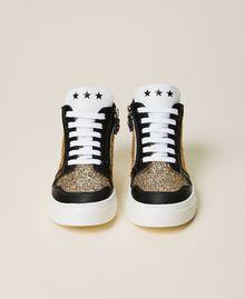 Sneakers de piel con lentejuelas Multicolor Oro Niño 212GCJ044-05