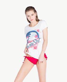 T-Shirt mit Strass Weiß Frau BS8CAA-02