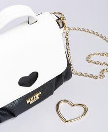 Petit sac Cécile avec cœur incrusté Bicolore Noir / Blanc Glace Femme VA8PA2-04