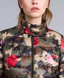 Piumino leggero stampato Stampa Camouflage Fiori Rose Donna JA82AN-04