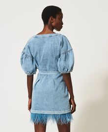 Denim dress with feathers Ocean Denim Woman 211TT2360-04