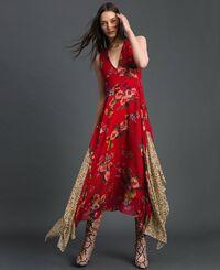 Kleid aus Georgette mit Blumen-Animal-Print