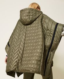 Padded cape with logo Alpine Green Woman 212TP2150-04