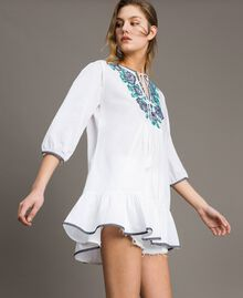Blusa con ricamo a punto croce Bianco Donna 191MT2063-01