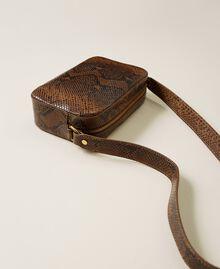Animal print leather shoulder bag Leather Whips Print Woman 212TB7292-03