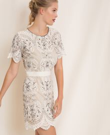Lace dress with embroidery Ivory Woman 201TP2462-03