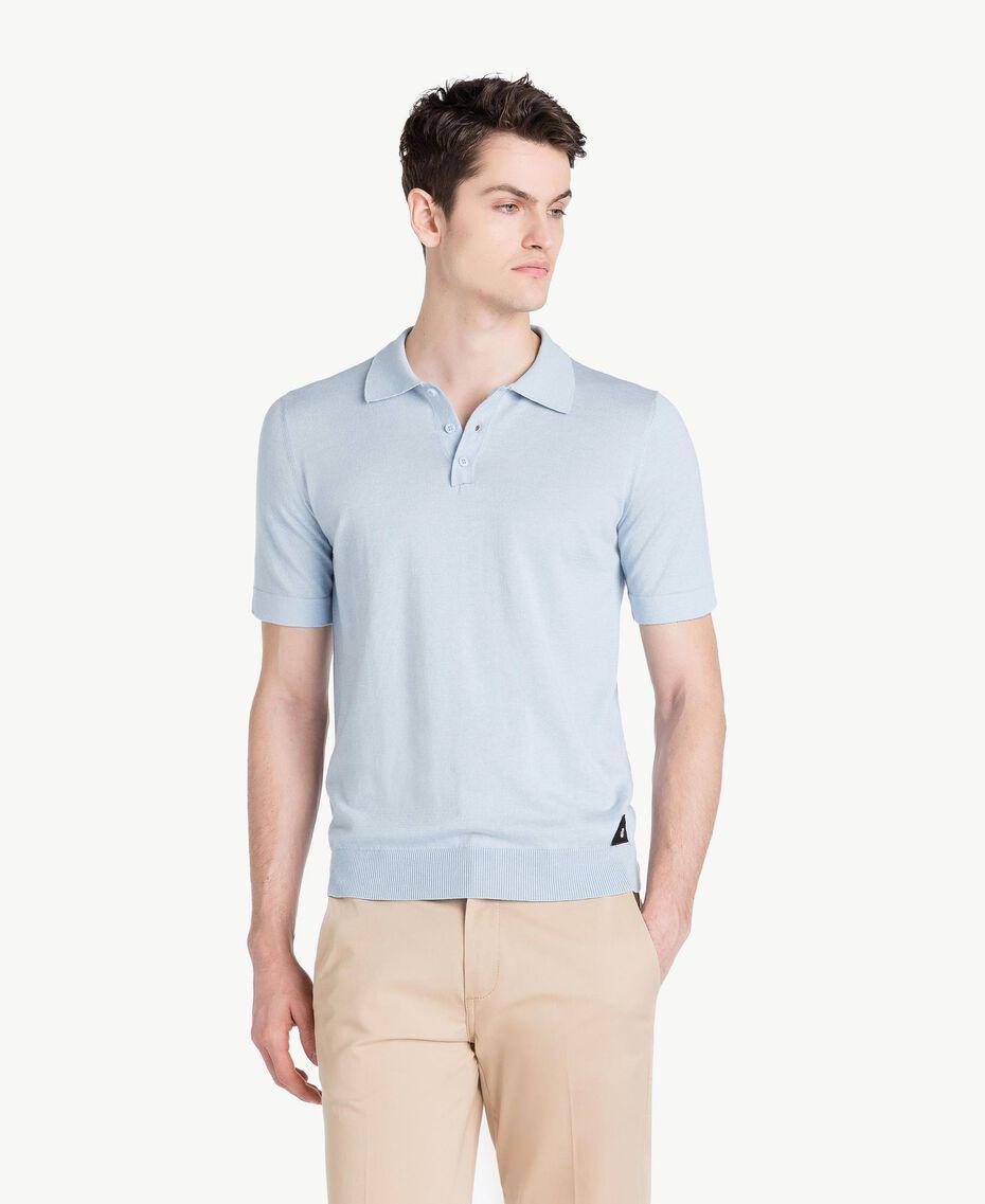 Pullover aus Baumwolle und Kaschmir Ice Blu Mann US831C-01