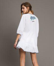 Blusa con ricamo a punto croce Bianco Donna 191MT2063-03