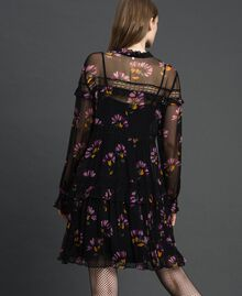 Camouflage and floral print dress Black Flowers Print Woman 192TT2122-03