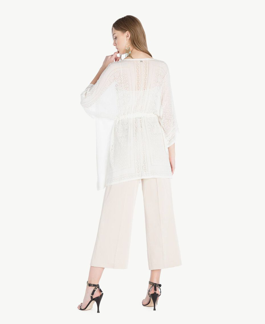 Viscose poncho Mother Of Pearl Woman TS83AD-03