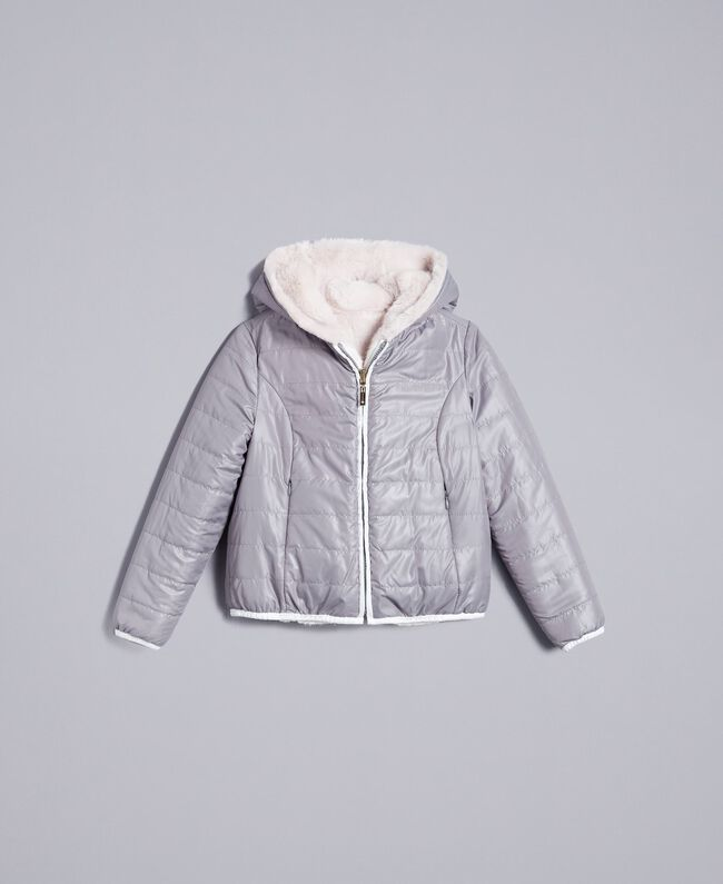 "Reversible padded jacket Bicolour Off White / ""Stone"" Grey Child GA82AG-01"