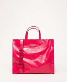 Grand cabas en cuir avec logo Rose «Jazz» Femme 201TO8090-04