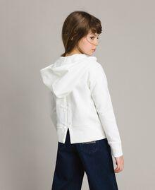 Baumwoll-Pullover mit Schleifen Mattweiß Kind 191GJ2031-04