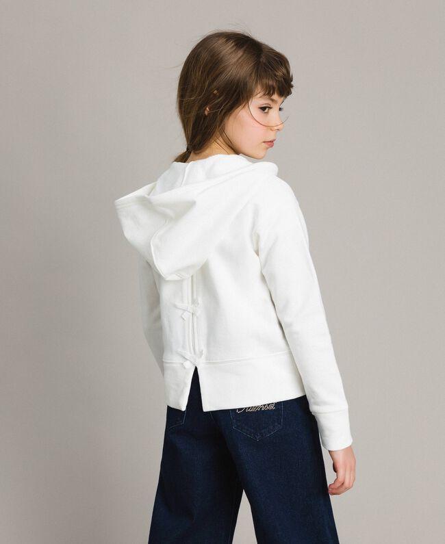 Cotton sweatshirt with bows Off White Child 191GJ2031-04
