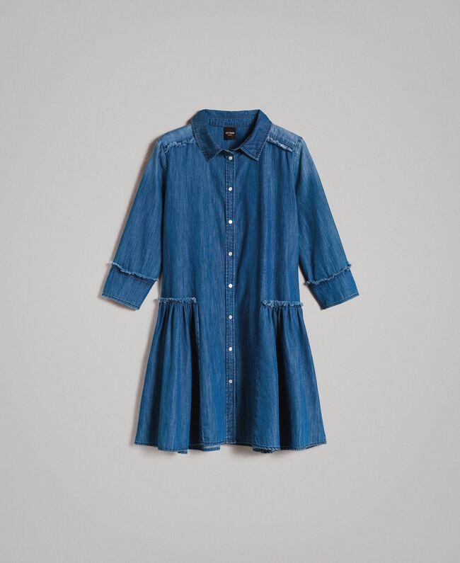 b402a61bbf4c8 Robe chemise évasée en denim Bleu Denim Femme 191MP2412-0S