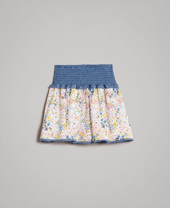 Muslin skirt-top with print