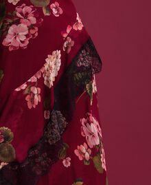 Abito sottoveste in creponne con stampa a fiori Stampa Rosso Beet Geranio Donna 192TP2727-05