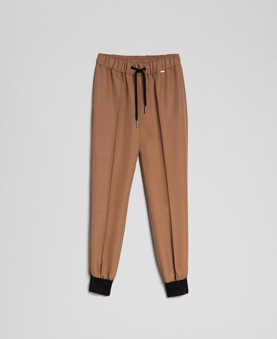 """Jogging trousers with elastic and drawstring """"Sequoia"""" Beige Woman 192ST2203-0S"""