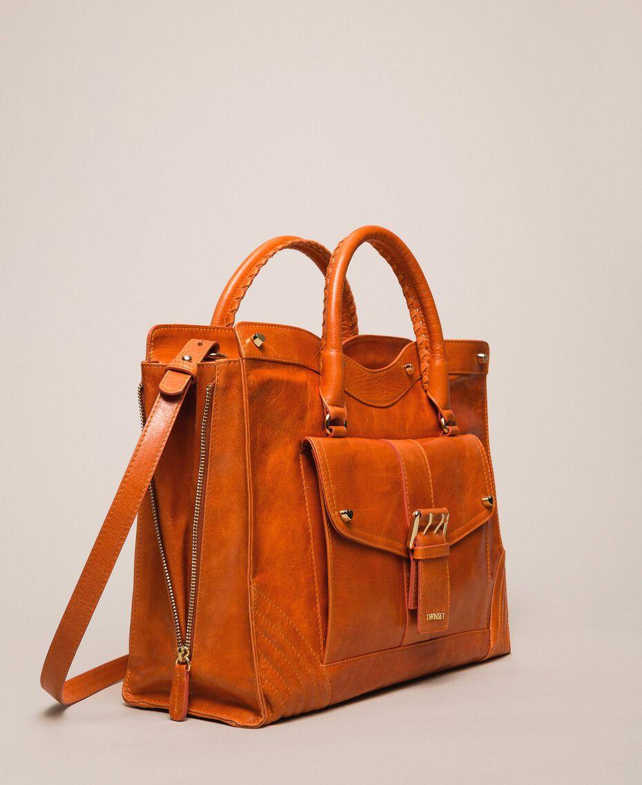 "Rebel leather shopper with pocket ""Jasper"" Red Woman 999TA7235-03"