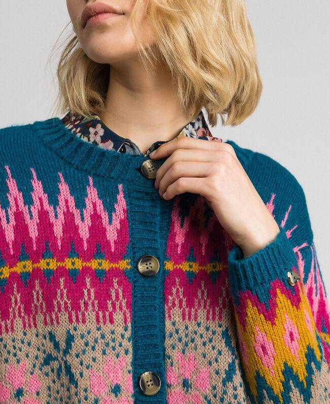 Pull Milano Cardigan FemmeFantaisieTwinset Multicolore Jacquard 7Ybyg6vf