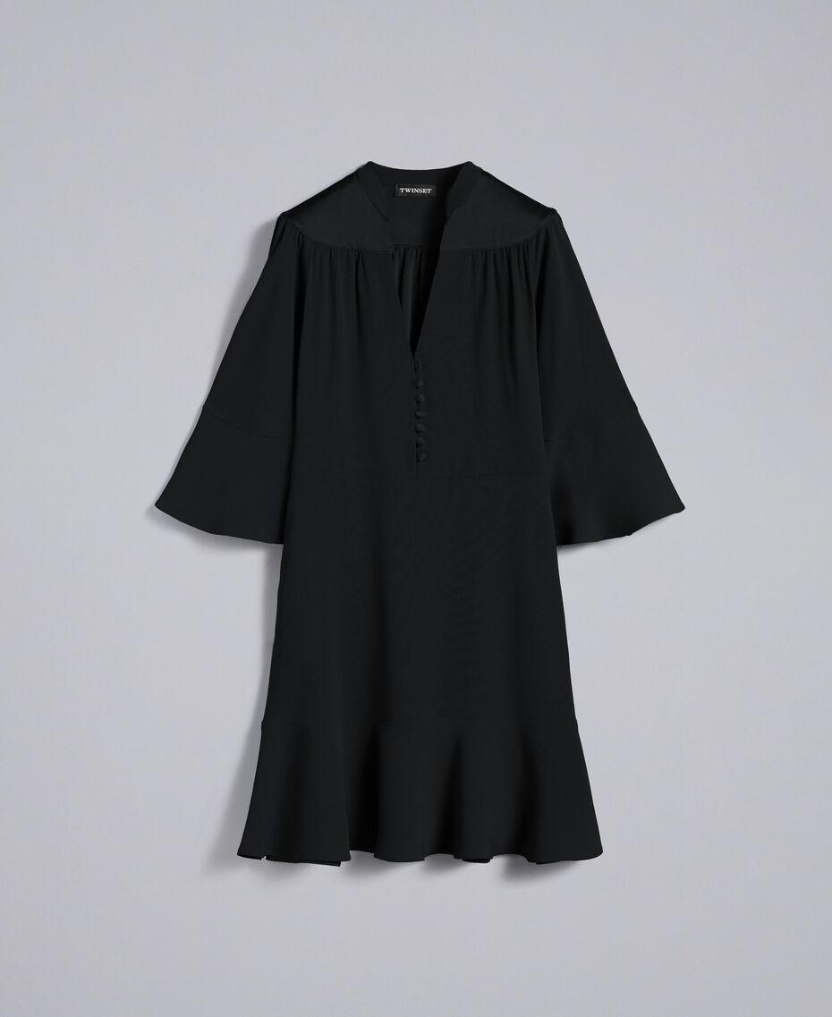 Robe en envers satin Noir Femme TA824C-0S