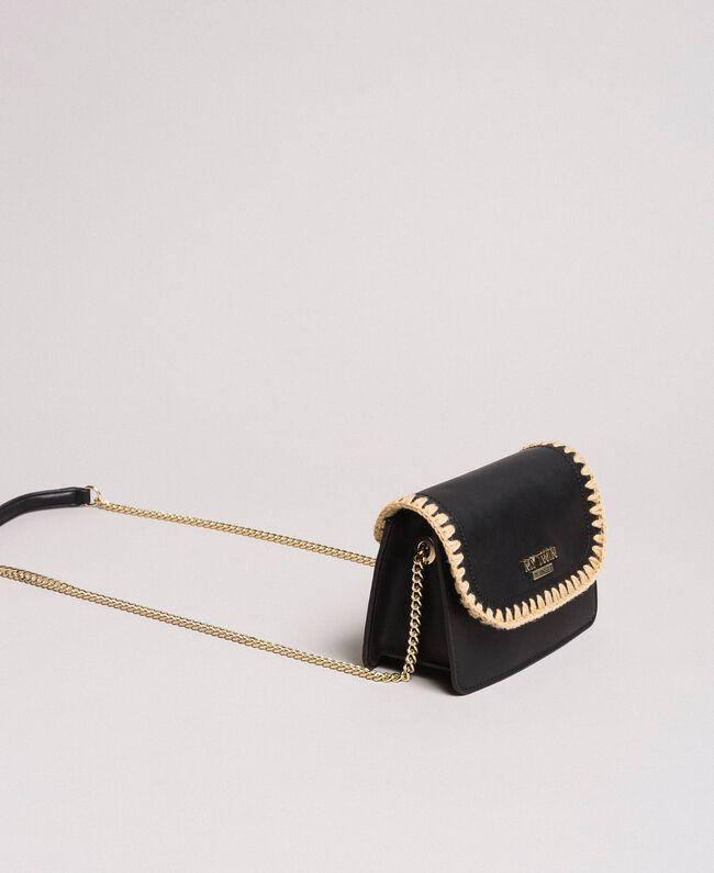 Sac à bandoulière en similicuir Noir Femme 191MO8092-01