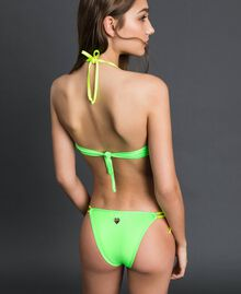 Bikini with fringes Fluorescent Orange / Fluorescent Blue Woman 191TQM024-03