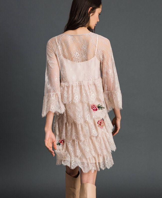 Robe en dentelle de Valenciennes avec broderies florales Noir Femme 192TP2586-04