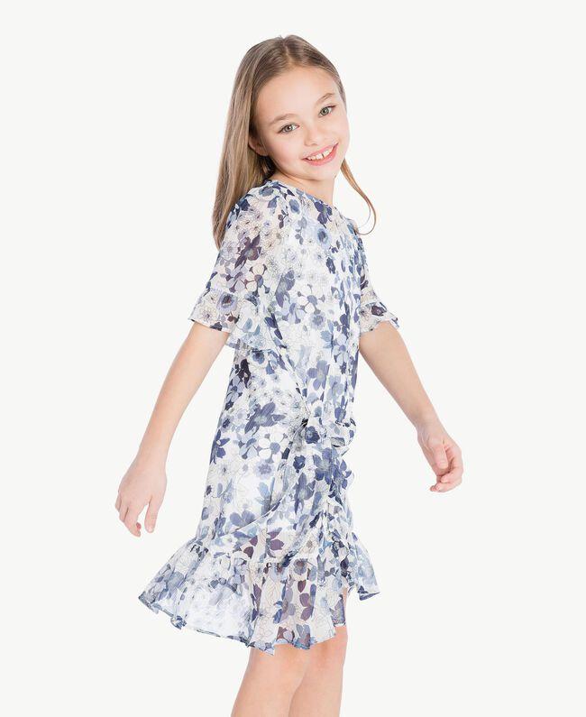 Robe imprimée Imprimé Floral Bleu Océan / Bleu Enfant GS82V2-05
