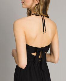 Robe longue en popeline Noir Femme 191LM2CHH-04