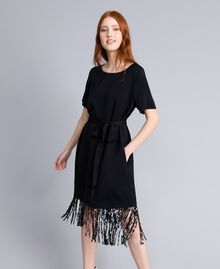 Envers satin dress Black Woman QA8TGQ-04