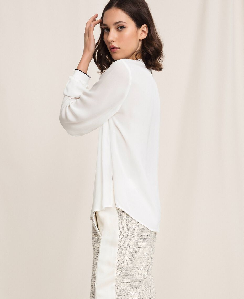 Crêpe de Chine shirt Ivory Woman 201TP2392-03