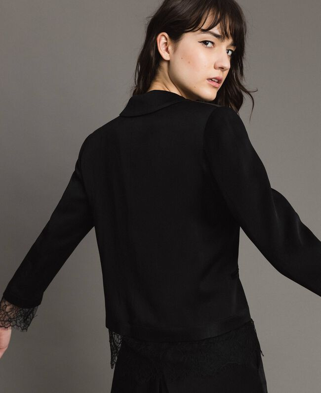 Lace blazer Black Woman 191TP2731-03