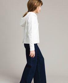 Sweat shirt en coton avec nœuds Off White Enfant 191GJ2031-03