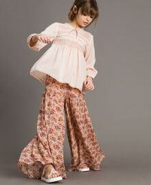 Floral georgette trouser skirt Mini Flowers Print Child 191GJ2801-0S