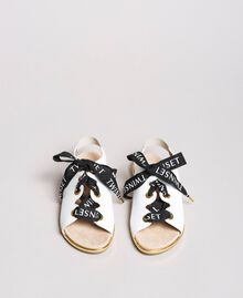 Sandals with branded laces White Child 191GCJ012-04