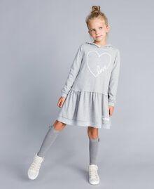 Платье из футера с принтом Серый Mélange Светлый Pебенок GA8261-0S