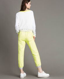 "Fleece trousers with branded trims ""Lemon Juice"" Yellow Woman 191LL28FF-03"