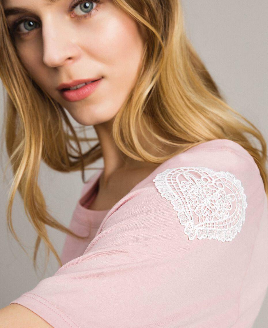 "T-Shirt mit Quasten ""Pink Bouquet"" Pink Frau 191LB2CCC-02"