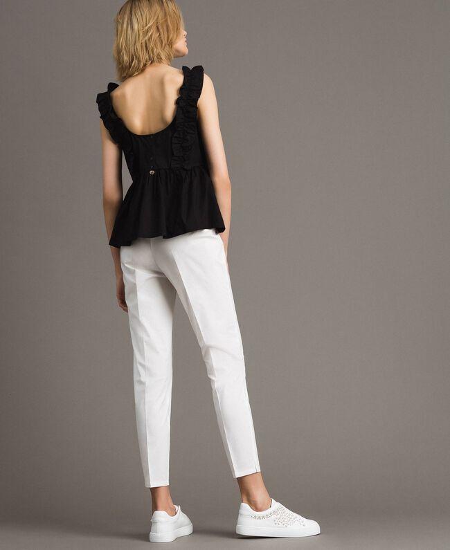 Leggings en popeline Off White Femme 191ST2043-03