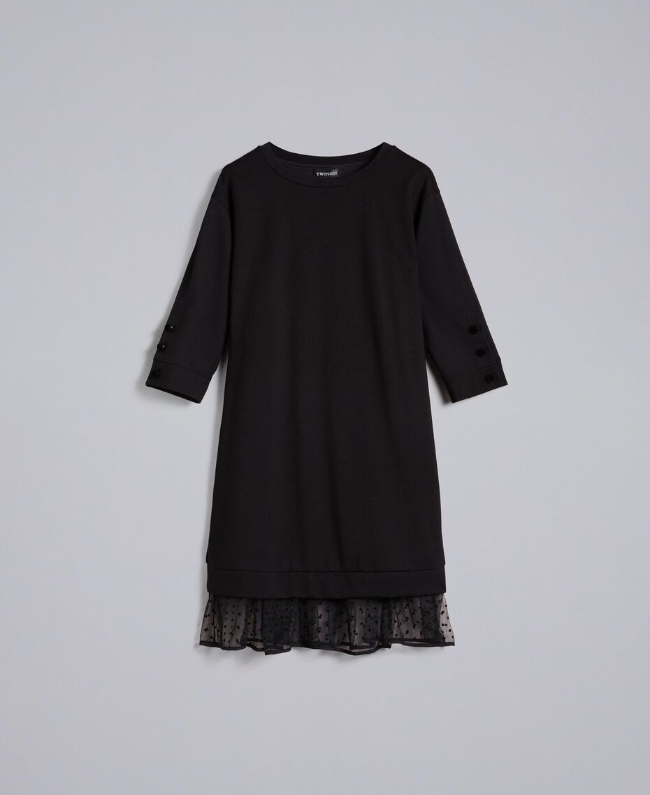 Milan stitch blouse with flock buttons Black Woman PA82BP-0S