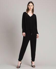 Combinaison en lurex avec manches kimono Noir Femme 191MP2020-02