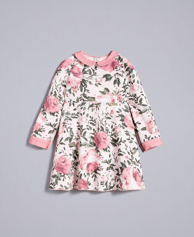 Robe en crêpe imprimé Imprimé Roses / Rose «Blush» Enfant FA82D1-01