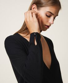 Silk and cashmere jumper Black Woman 202TP3471-04